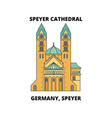 germany speyer speyer cathedral line icon vector image vector image