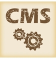 Grungy CMS settings icon vector image vector image