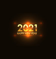 happy new year 2021 gold orange vector image