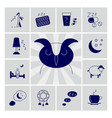 insomnia problems icons set vector image