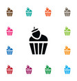 isolated cupcake icon sweet element can be vector image vector image