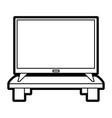 isolated tv device vector image
