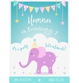 Kids Birthday Party Invitation with Garlands vector image vector image