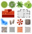 landscape design set vector image vector image