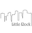 little rock city one line drawing vector image vector image