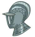 military helmet knight warrior armour vector image vector image