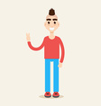 Mohawk hairstyle character vector image
