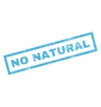 No Natural Rubber Stamp vector image vector image