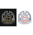ny brooklyn sport typography t-shirt graphics vector image vector image