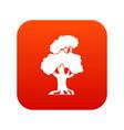 oak icon digital red vector image vector image