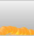 orange circle shape on white grey background vector image vector image