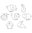 Outlined animal doodles vector | Price: 1 Credit (USD $1)