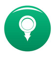 point icon green vector image