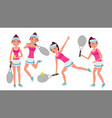 professional tennis player summer sport vector image vector image