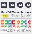 projector icon sign Big set of colorful diverse vector image vector image