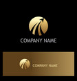 Round rise arrow gold business logo vector image