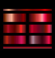 set gradients in red and pink colors vector image