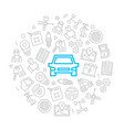 set of car service and auto repair icons vector image