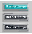 Set of realistic abstract banners with glass