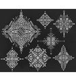Set of seven tribal art boho hand drawn geometric vector image vector image