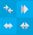 set simple indicator icons vector image