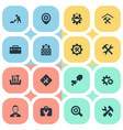 set simple mending icons vector image vector image
