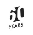 sixty five years emblem template vector image vector image
