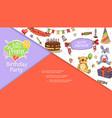 sketch birthday party concept vector image vector image