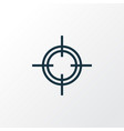 sniper outline symbol premium quality isolated vector image