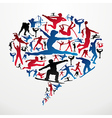 Social media Sports silhouettes vector image vector image