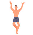 sportive male character on summer vacation active vector image vector image