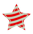 star with stripes independece day icon vector image vector image