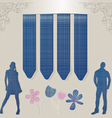 stick jeans silhouette vector image vector image