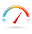 temperature scale weather indication vector image vector image