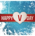 Valentines Day realistic Heart Tag with Ribbon vector image vector image