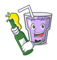 with beer berry smoothie mascot cartoon vector image