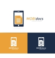 file and phone logo combination Document vector image