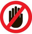Icon no hand vector image