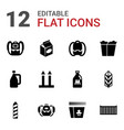 12 pack icons vector image vector image
