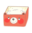 A lunch box is placed vector image
