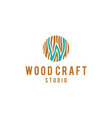 abstract wood fiber pieces vector image