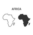 africa map icon outline and silhouette