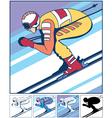 Alpine Skiing vector image vector image