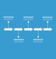 arrow chart business infogaraphic design vector image