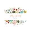 autumn leaves and berries with rectangle sticker vector image vector image