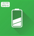battery icon business concept battery charge vector image vector image