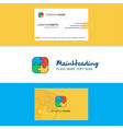 beautiful puzzle game logo and business card vector image