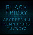 black friday neon vector image vector image