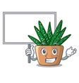 bring board mini zebra cactus on cartoon pot vector image