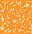 carrot seamless pattern outline vegetable vector image vector image